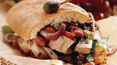 Mediterranean Grilled Tuna Sandwich