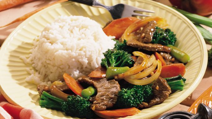 Broccolini™ and Beef Stir-Fry