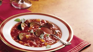 Slow-Cooker Vegetable Rice Soup