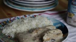 Fish Fillets in Cream of Mushroom