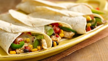 Southwestern Chicken Fajita Wraps