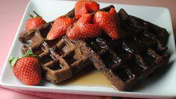 Chocolate Strawberry Waffles