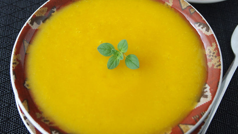 Pumpkin Cream and Ginger Soup
