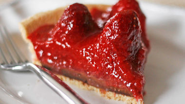 Strawberry Truffle Pie