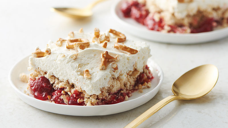 Strawberry Pretzel Salad Dump Cake