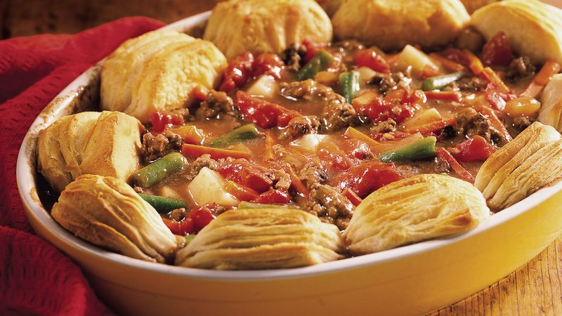 Biscuit-Topped Hamburger Stew