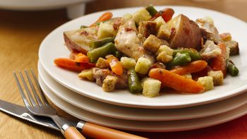 Slow-Cooker Chicken and Stuffing Pot Pie