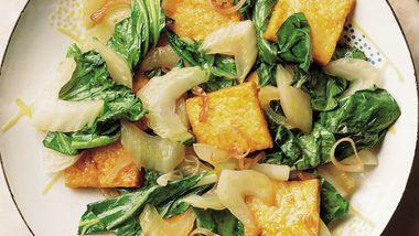 Stir-Fried Bok Choy with Tofu