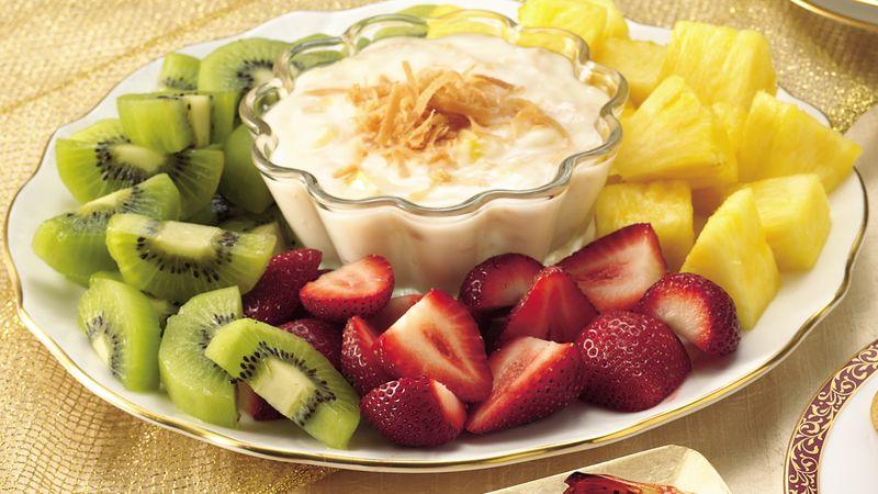 Gluten-Free Fruit with Piña Colada Dip
