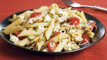 Chicken 'n Fresh Mozzarella Pasta