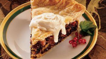 Brandied Winter Fruit Pie with Hard Sauce