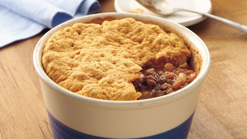 Beefy Bean Pot Pie