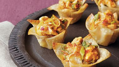 Asian Chicken Wonton Cups