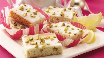 Lemon-Glazed Pistachio Bars