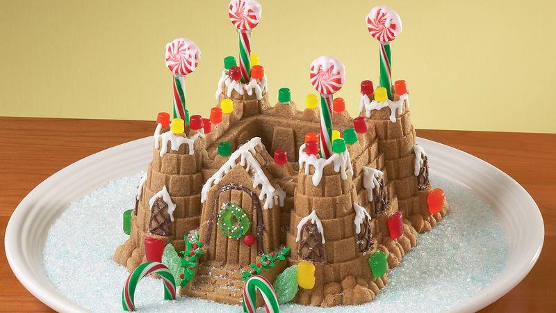 Gingerbread Castle Cake