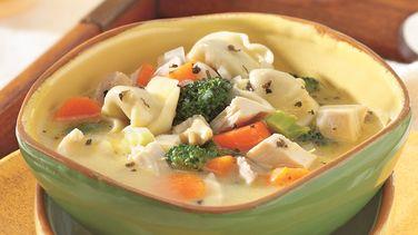 Sopa de Pollo y Tortellini