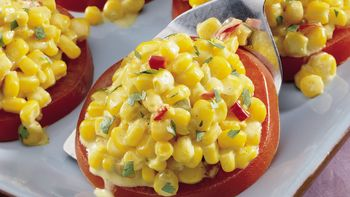 Curried Corn Salad with Tomato