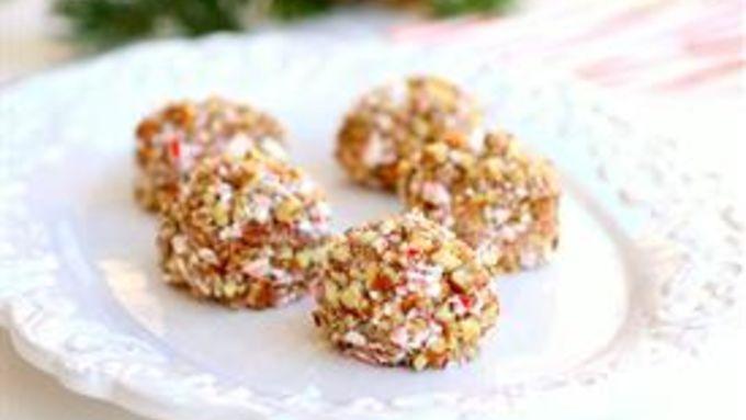 Candy Cane Snowballs