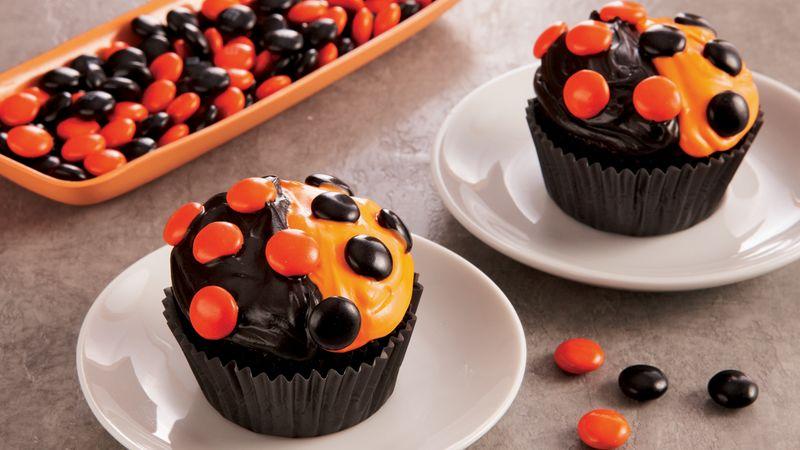 Halloween Dot Cupcakes