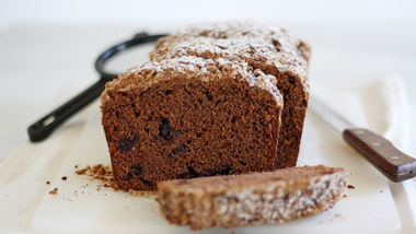 Dark Chocolate Roasted Cherry Quick Bread