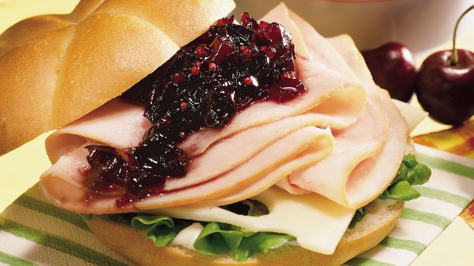 Smoked Turkey Sandwiches with Cherry Chutney