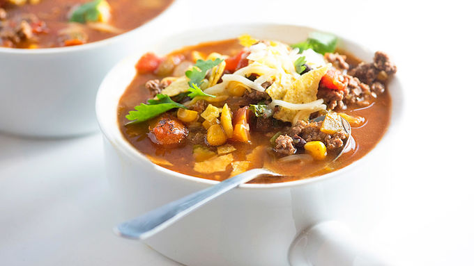 Beef Taco Tortilla Soup