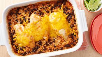 Cheesy Southwest Chicken and Rice Casserole