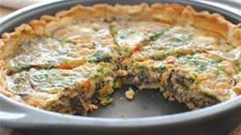 Red Quinoa Quiche