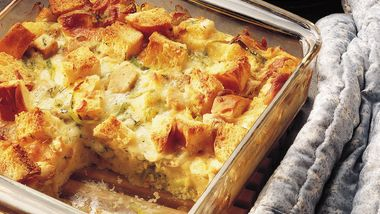 Chicken-Leek Strata