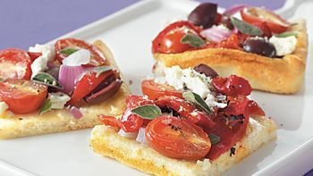 Greek Flatbread Squares