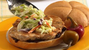 Pork Barbecue and Coleslaw Sandwiches