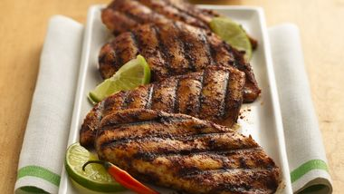 Lime- and Chili-Rubbed Chicken Breasts