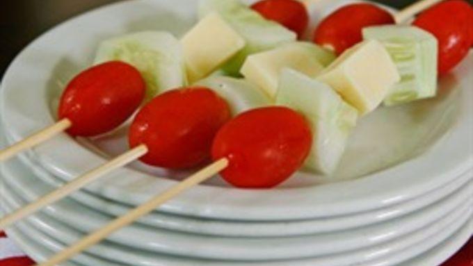 Simple Salad on a Stick
