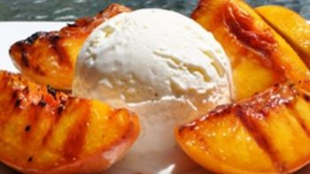 Grilled Georgia Peaches and Ice Cream