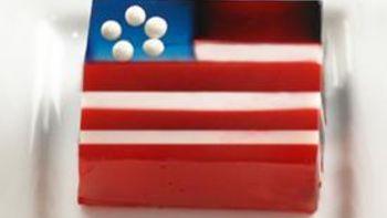 Flag Jello Shots