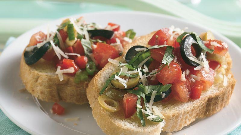 Chopped Salad Bruschetta