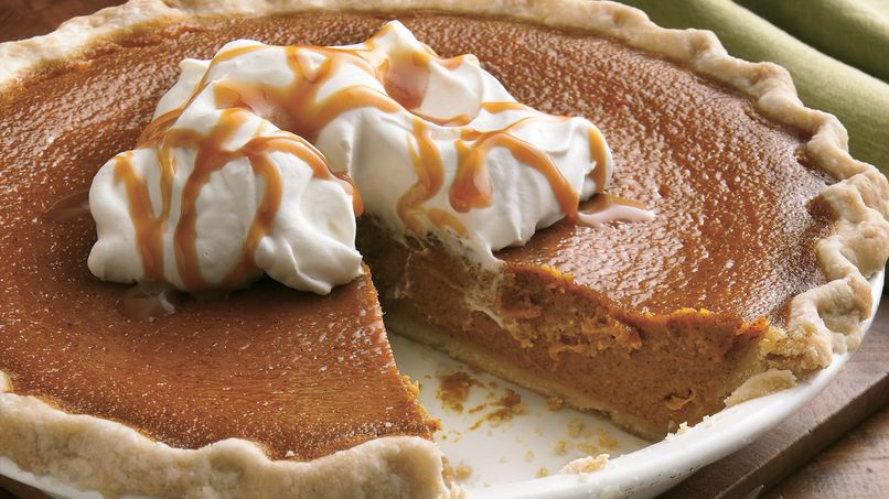 Brown Sugar-Pumpkin Pie with Caramel Whipped Cream