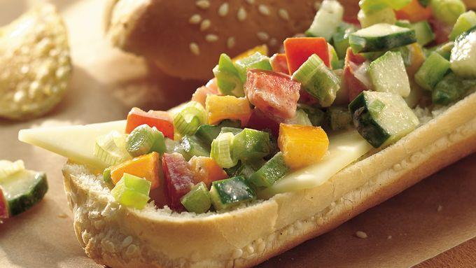 Tex-Mex Veggie Hoagies