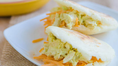 Arepas Stuffed with Turkey Salad, Avocado and Cheese