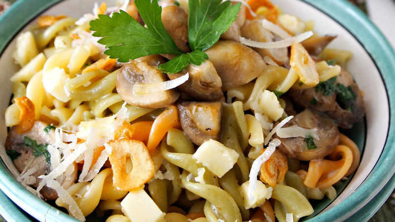 Short Pasta with Mushrooms and Cheese