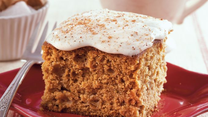 Apple Molasses Snack Cake