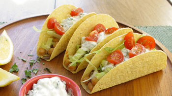 Skinny Mediterranean Chickpea Tacos