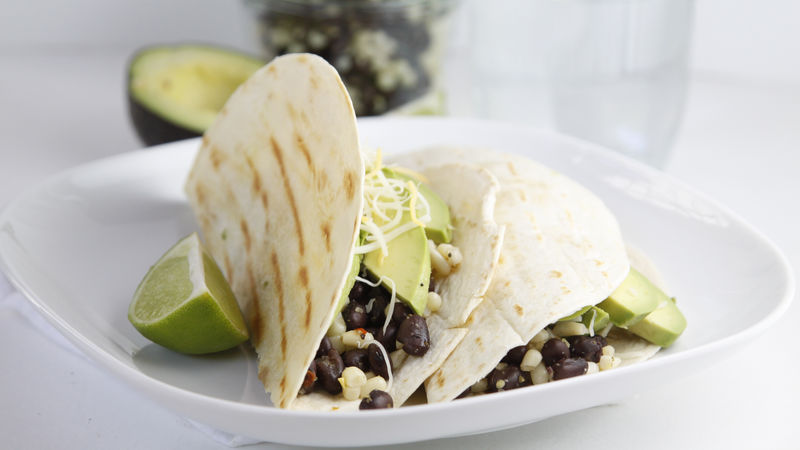 Black Bean and Corn Grilled Tacos