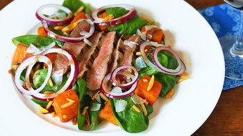 Flank Steak Spinach Salad