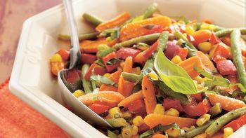 Roasted Vegetables with Basil (Crowd Size)