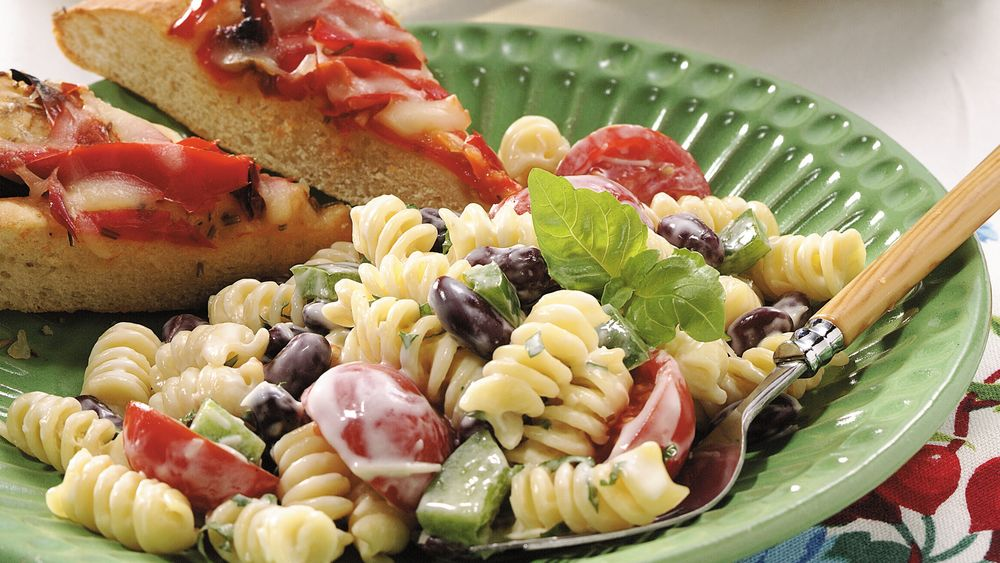 Creamy Pasta-Bean Salad