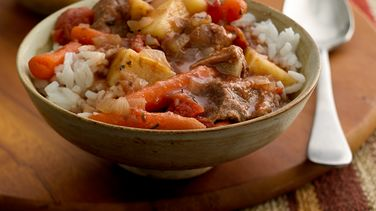 Slow-Cooker Beef Stew with Rice