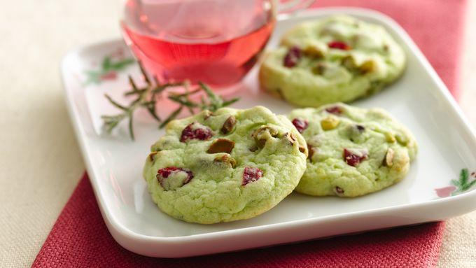 Cran-Pistachio Cookies