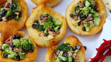Cold Broccoli and Bacon Salad Baskets