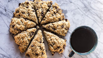 Mexican Chocolate Chip-Oatmeal Scones